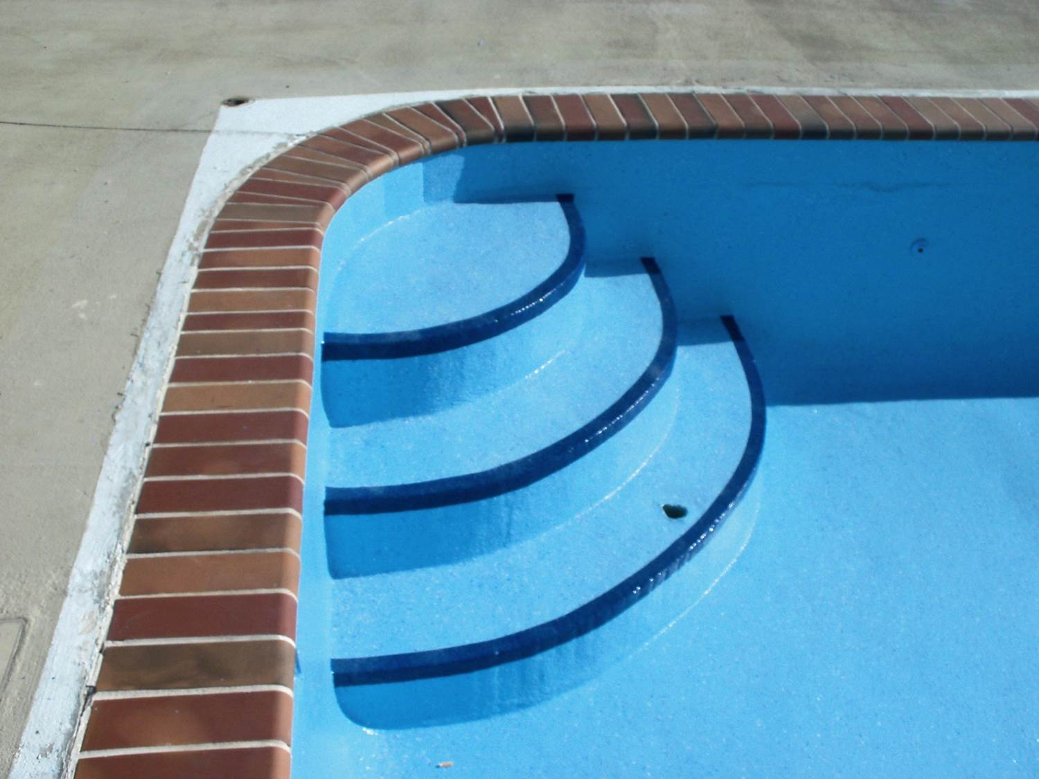 Pool steps after Granitex™ coating