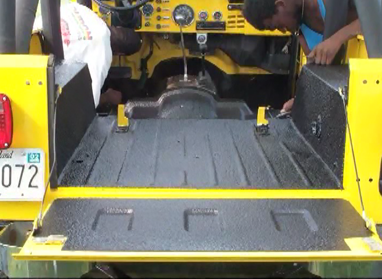 Truck bed after Vortex™ spary in liner